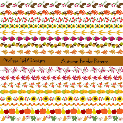 Autumn Border Patterns Cliparts Melissa Held Designs    Mygrafico