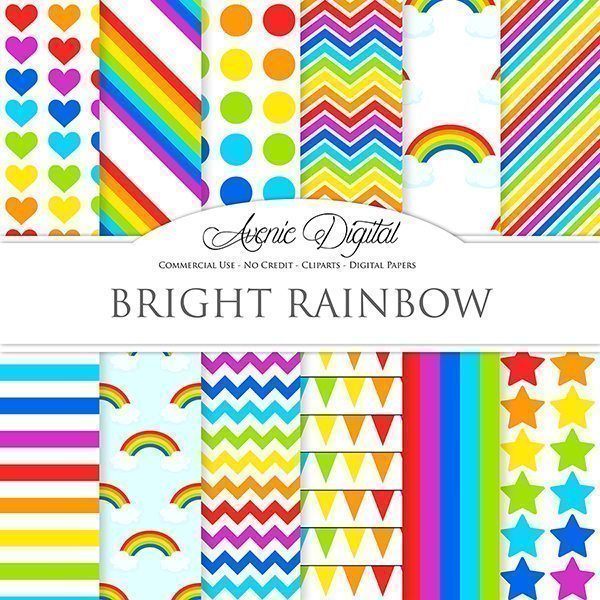 Rainbow Digital Paper  Avenie Digital    Mygrafico