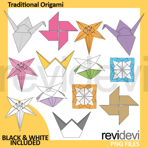 Traditional origami clipart Cliparts Revidevi    Mygrafico