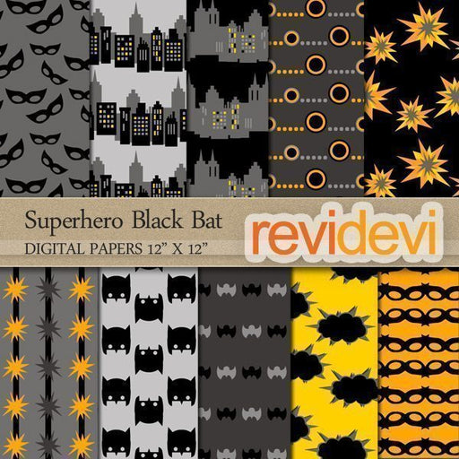 Superhero Black Bat Papers  Revidevi    Mygrafico