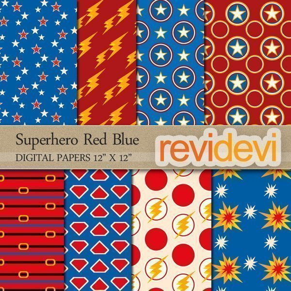 Superhero Red Blue Papers  Revidevi    Mygrafico