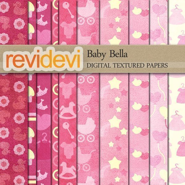 Baby Bella Textured Papers  Revidevi    Mygrafico