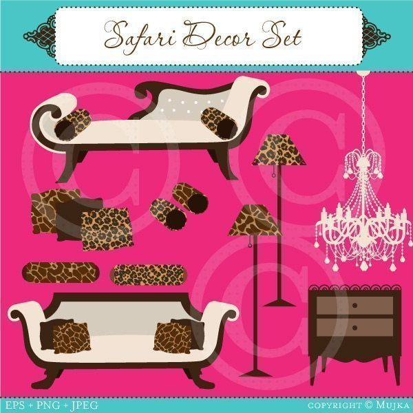 Safari Decor Set  Mujka Chic    Mygrafico