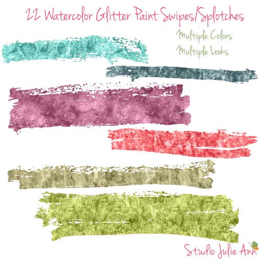 Watercolor Glitter Paint Swipes Photoshop Tools Studio Julie Ann    Mygrafico