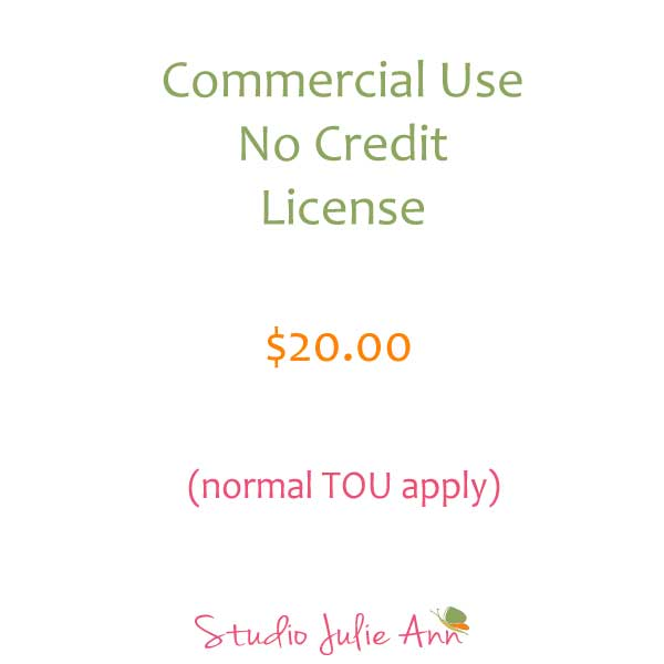 Commercial Use No Credit Required License Commercial License Studio Julie Ann    Mygrafico