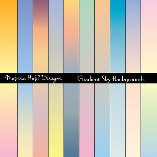 Gradient Sky Backgrounds Digital Paper & Backgrounds Melissa Held Designs    Mygrafico