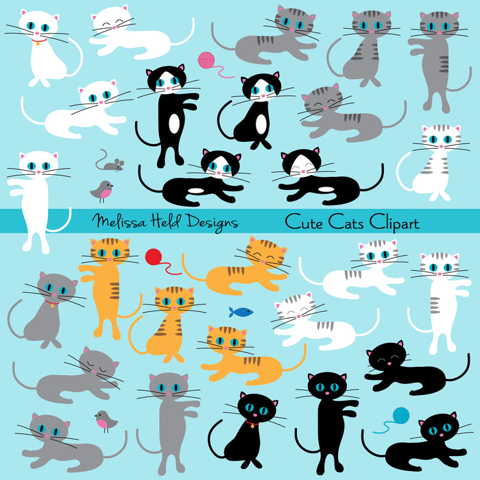 Cute Cats Clipart Cliparts Melissa Held Designs    Mygrafico