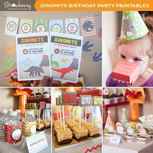 DINOmite Dinosaur Party Printables Party Printable Templates Strawberry Mommycakes    Mygrafico