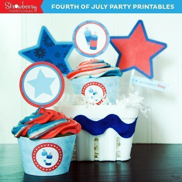 Firecracker Fourth of July Printable Party Printable Templates Strawberry Mommycakes    Mygrafico