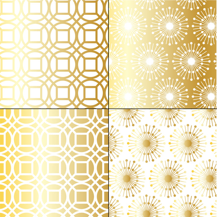 Silver and Gold Metallic Textures Digital Paper & Backgrounds Melissa Held Designs    Mygrafico