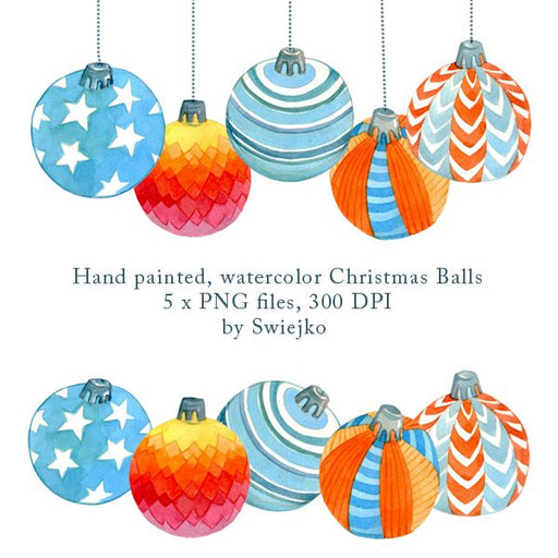 Christmas Balls, Glass Balls, Holiday Ornament, Xmas Decoration Cliparts Swiejko    Mygrafico