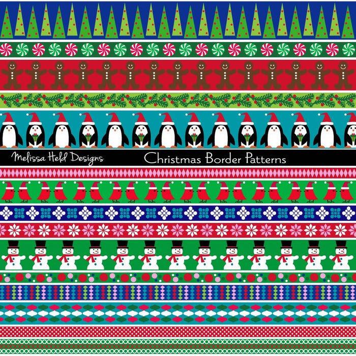 Christmas Border Patterns Cliparts Melissa Held Designs    Mygrafico