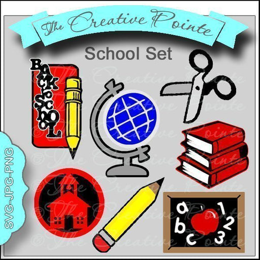School Set Clipart The Creative Pointe    Mygrafico
