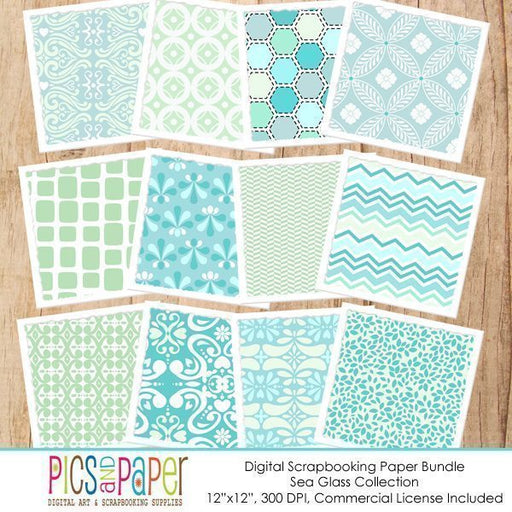 Sea Glass Papers Printable Templates Pics and Paper    Mygrafico