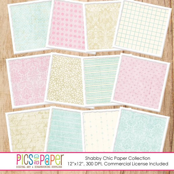Shabby Chic Papers Digital Papers & Backgrounds Pics and Paper    Mygrafico