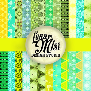 Fresh Spring Greens Mega Background Pack by Lunar Mist Clipart & Digital Paper Lunar Mist    Mygrafico