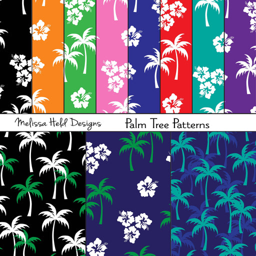 Palm Tree Patterns Digital Paper & Backgrounds Melissa Held Designs    Mygrafico