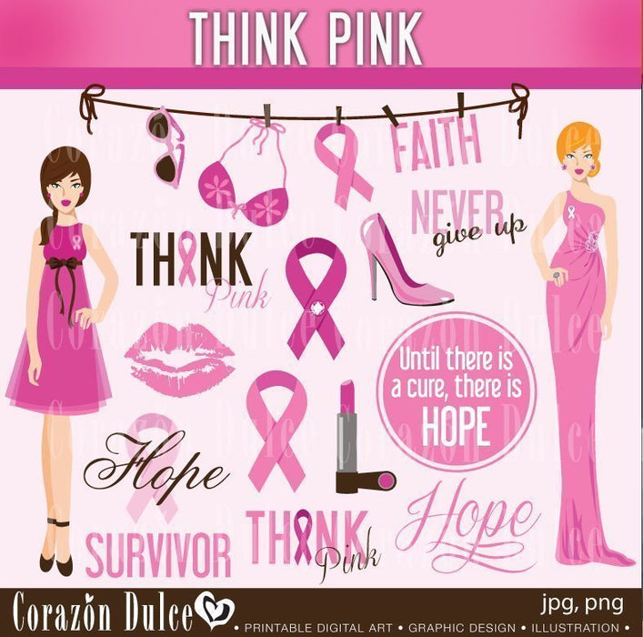 Pink Army - Breast Cancer Awareness Clipart Corazón Dulce    Mygrafico