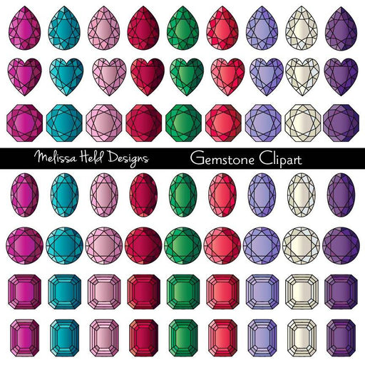 Gemstone Clipart Cliparts Melissa Held Designs    Mygrafico