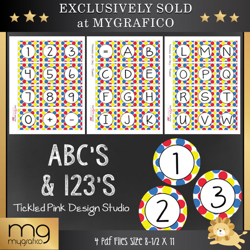 ABC's and 123's Printable Set Printable Templates Tickled Pink Design Studio    Mygrafico