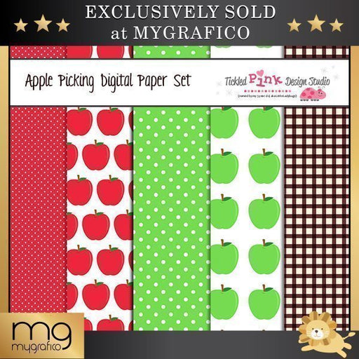 Apple Picking Digital Paper Set  Tickled Pink Design Studio    Mygrafico