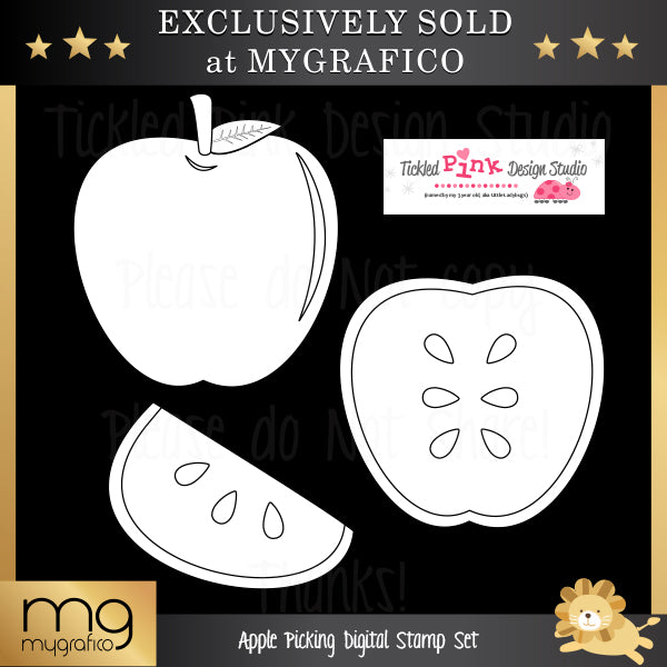 Apple Picking Digital Stamp Set Digital Stamps Tickled Pink Design Studio    Mygrafico
