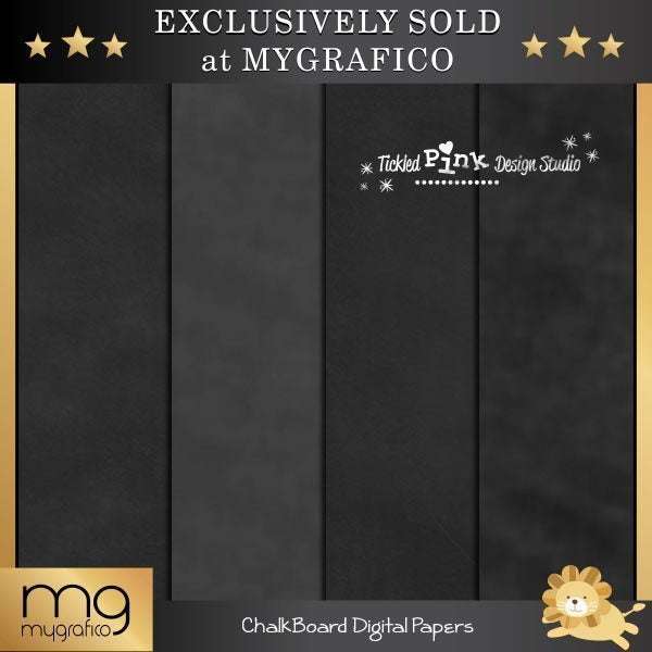 Chalkboard Digital Paper Set  Tickled Pink Design Studio    Mygrafico