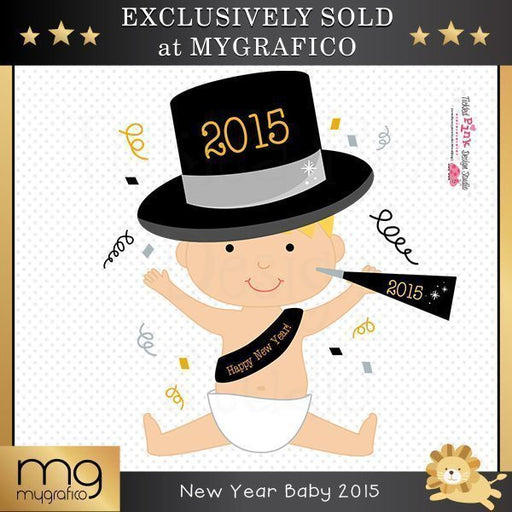 New Year Baby 2015 Image  Tickled Pink Design Studio    Mygrafico