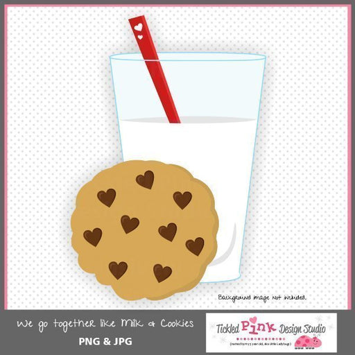We Go Together Like Milk and Cookies Clip-art  Tickled Pink Design Studio    Mygrafico