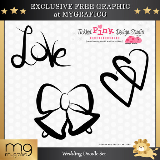 Free Wedding Doodle Set Clipart Tickled Pink Design Studio    Mygrafico