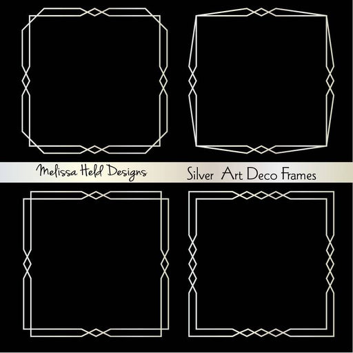 Silver Art Deco Frames Cliparts Melissa Held Designs    Mygrafico