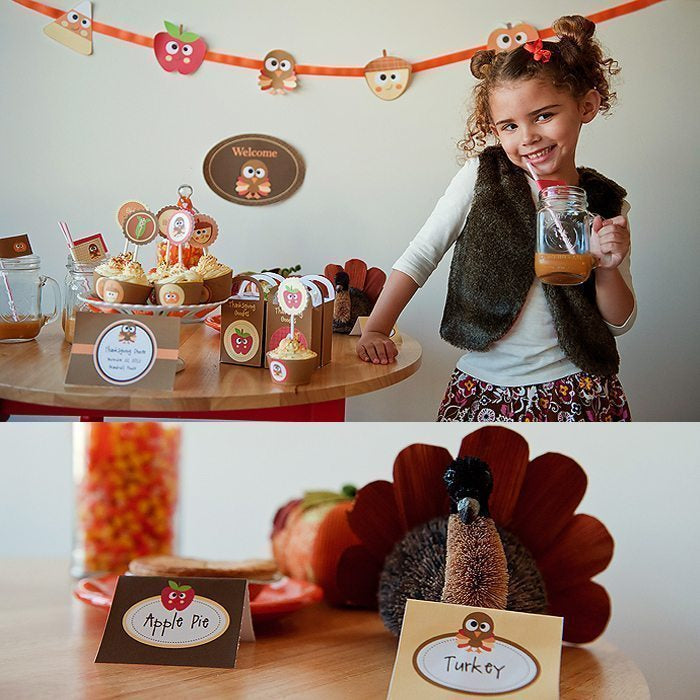 Thanksgiving Printable Party Kit Party Printable Templates Print Magic    Mygrafico