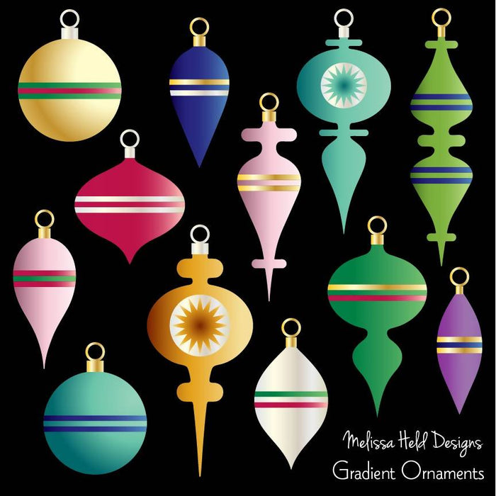 Gradient Christmas Ornaments Cliparts Melissa Held Designs    Mygrafico
