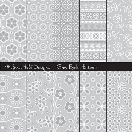 Grey Eyelet Patterns Digital Paper & Backgrounds Melissa Held Designs    Mygrafico