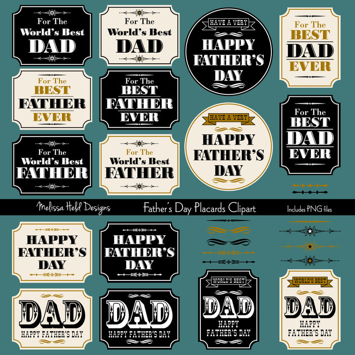 Father's Day Placard Clipart Cliparts Melissa Held Designs    Mygrafico