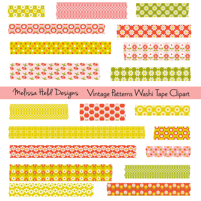 Vintage Patterns Washi Tape Clipart Cliparts Melissa Held Designs    Mygrafico