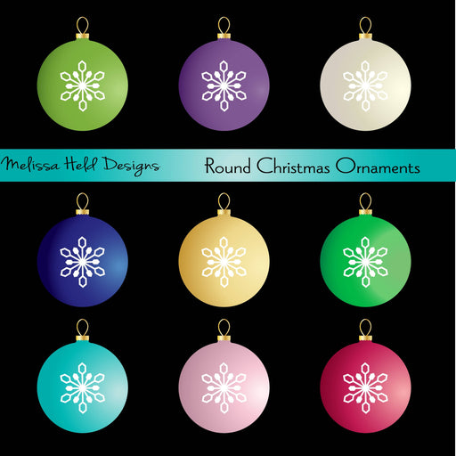 Round Christmas Ornaments Clipart Cliparts Melissa Held Designs    Mygrafico