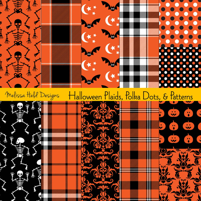 Halloween Plaids, Polka Dots & Patterns
