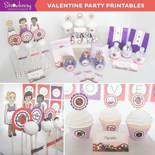 DIY Valentine Party Printables Party Printable Templates Strawberry Mommycakes    Mygrafico