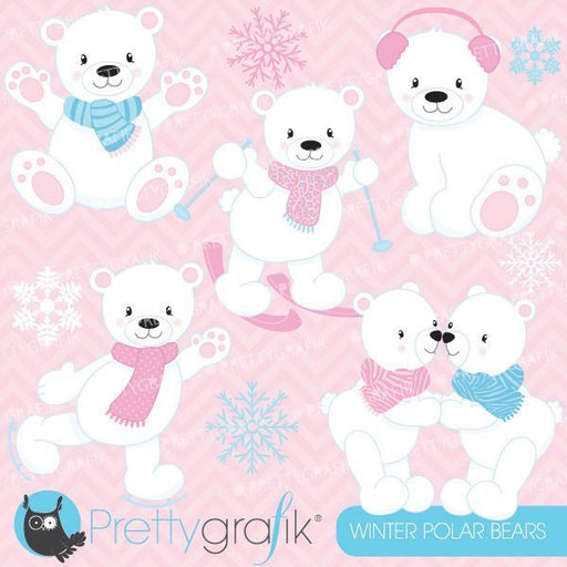 Winter polar bears Clipart  Prettygrafik    Mygrafico