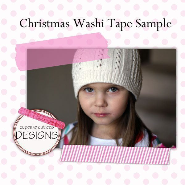 Christmas Washi Tape Digital Clip Art Clipart Cupcake Cutiees    Mygrafico