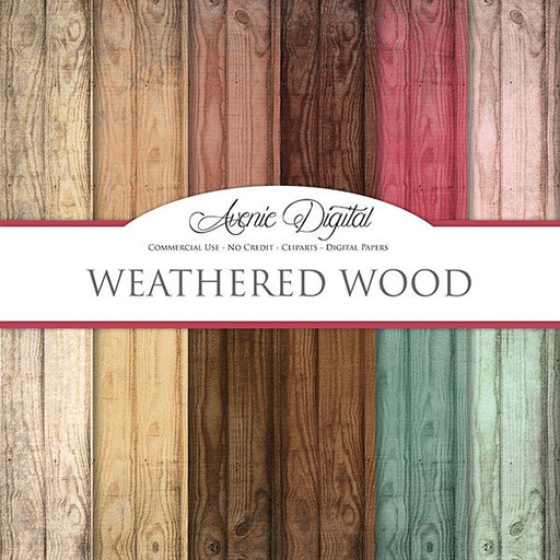 Weathered Wood Digital Paper  Avenie Digital    Mygrafico
