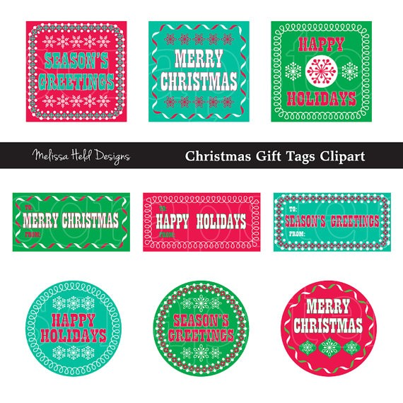 Bright Christmas Gift Tags Clipart Cliparts Melissa Held Designs    Mygrafico