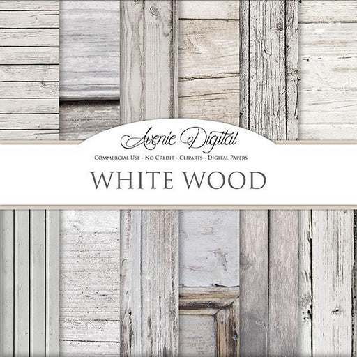 White Wood Digital Paper  Avenie Digital    Mygrafico