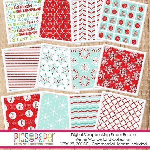 Winter Wonderland Papers Digital Papers & Backgrounds Pics and Paper    Mygrafico