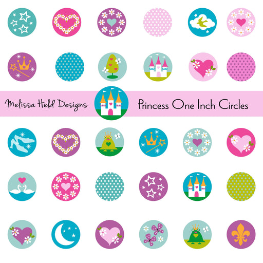 Princess One Inch Circles Cliparts Melissa Held Designs    Mygrafico