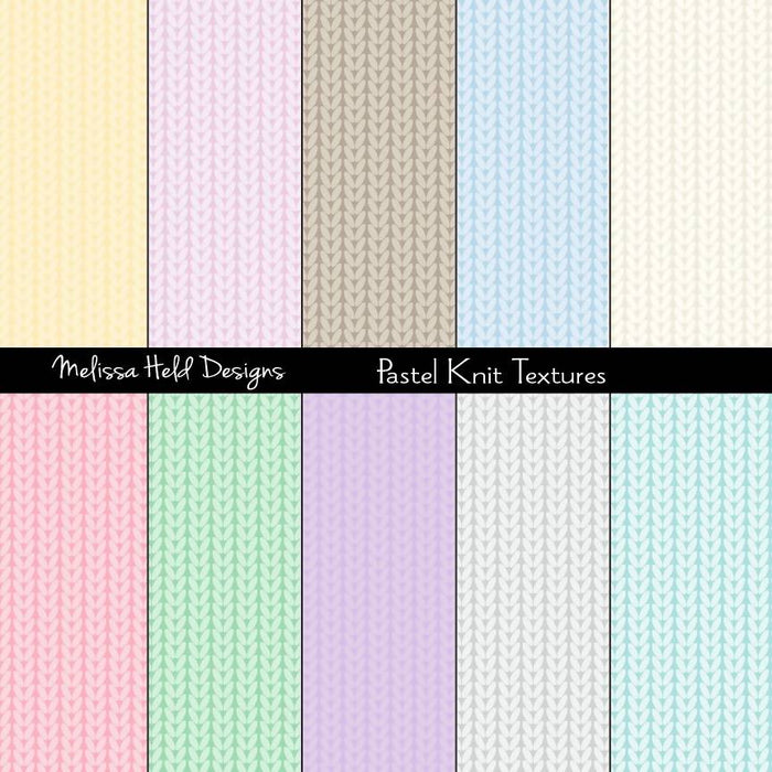 Pastel Knit Textures Digital Paper & Backgrounds Melissa Held Designs    Mygrafico