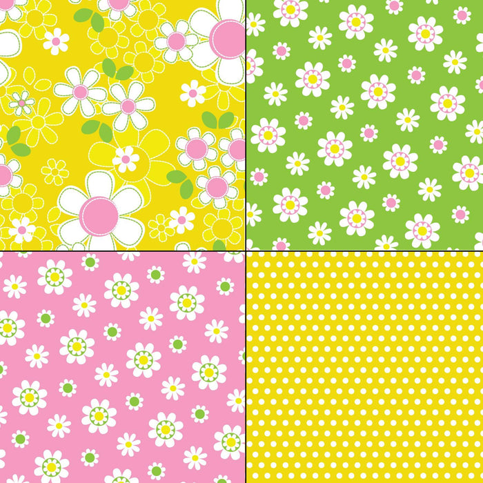 Mod Floral and Polka Dot Patterns Digital Paper & Backgrounds Melissa Held Designs    Mygrafico