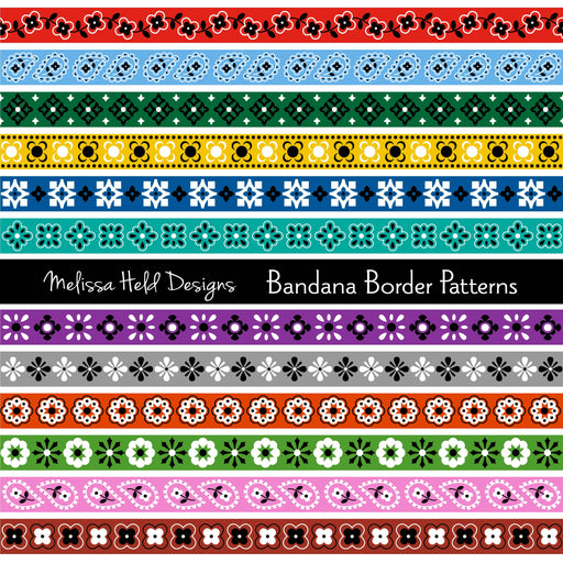 Bandana Border Patterns Cliparts Melissa Held Designs    Mygrafico
