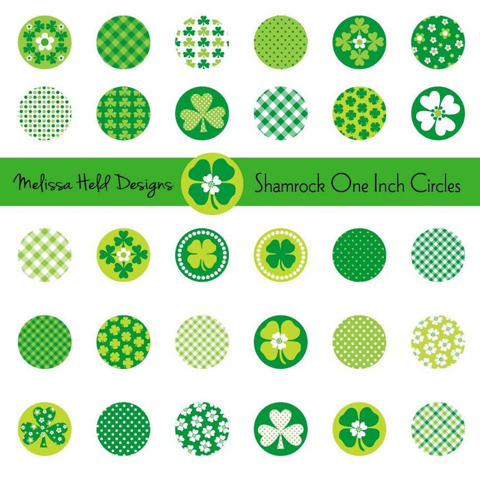 Shamrock One Inch Circles Clipart Cliparts Melissa Held Designs    Mygrafico